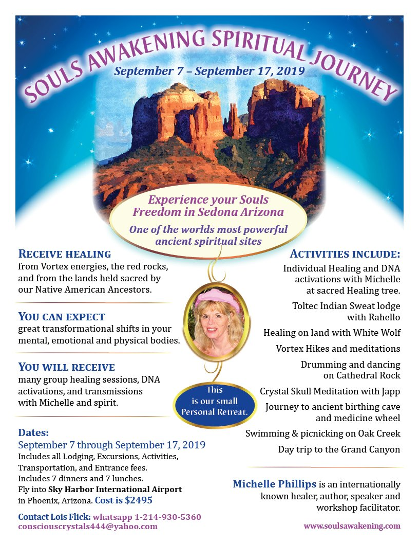 Souls Awakening Spiritual Journey 2019 in Sedona Arizona